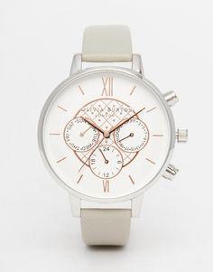 Olivia Burton Big Dial Chronograph Grey Watch £135 - LOVEEEEEEEEEEE