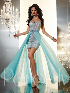 Panoply 14627 High Low Removable Skirt Prom Dress