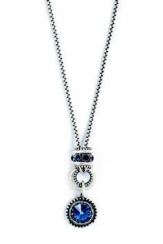 Our dark blue ornate enhancer is bold enough to carry and complement an equally impressive necklace - like this silver chain adorned with Montana Swarovski crystals and an intricately detailed pendant. Designer Jewellery, Jewelry Design, Jewellery Making, Montana, Pewter, Corset, Swarovski Crystals, Jewelery, Dark Blue