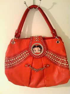 SALE & FREE SHIPPING  BETTY BOOP Glamour Edition Red Rhinestone Metal Stud Purse $50 @eBay  ENDING SOON!!