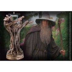 The Noble Collection - LotR - Staff Of Gandalf the Grey Candle Holder Image 0