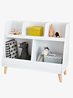Specially designed to store books and toys, this beautiful storage cabinet will find its place in all children's bedrooms! Toy Storage Shelves, Baby Toy Storage, Box Storage, Baby Bookshelf, Bookshelves, Bookcase, Kids Table And Chairs, Kid Table, Childrens Book Shelves