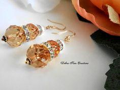 Swarovski Pearl Amber Bridesmaid by DebraAnnCreations on Etsy