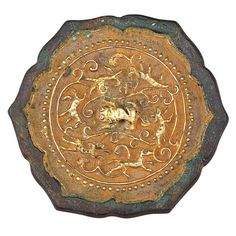 Chinese gilt-bronze mirror, Tang Dynasty. - A.lain R. T.ruong.