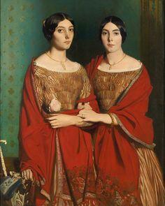 Portrait d'Adèle et Aline Chassériau by Théodore Chassériau
