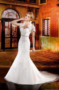 Reißverschluss  Wunderschönes Brautkleid Online 2013 aus Organza mit Stickerei