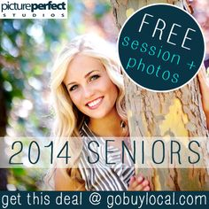 Attention 2014 ‪#‎Seniors‬!! Get a FREE photo session & photos with this great ‪#‎deal‬ from Picture Perfect Studios, Inc! ‪#‎seinorpics‬ ‪#‎riverfalls‬ http://gobuylocal.com/offerseo/River_Falls-WI/Picture_Perfect_Studios/2362/452