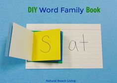 Easy DIY Word Family Activities Book, Perfect beginner reader ideas and activities, Early childhood education ideas, DIY Book for kids, word family list