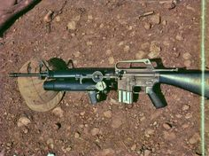M16A1 rifle fitted with an XM-148 grenade launcher.