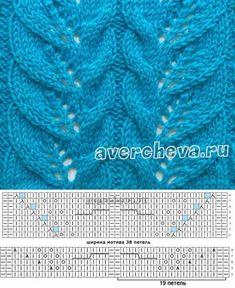 Blattmuster stricken russisch - Knit & Share