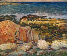 """Rocky Coast,"" Charles Salis Kaelin, oil on canvas, 25 x 30"", Spanierman Gallery."