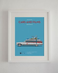 Ghost Busters car movie poster art print A3 Cars And Films home decor prints car print