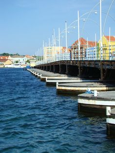 Curaçao - love this walking bridge.  It swings open  on the floating barges attached