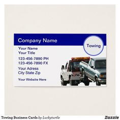 24 Best Auto Towing Transport Wrecker Business Cards Images