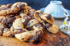 Ciambelle bicolori intrecciate ricetta veloce vickyart arte in cucina
