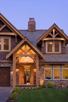 Compact Hybrid Timber Frame Home Design + Photos - Timber Home Living