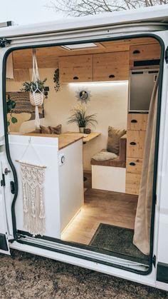 Cargo Trailer Camper, Car Camper, Ford Transit Camper, Camper Life, Campers, Caravan Home, Kombi Home, Van Conversion Interior, Camper Van Conversion Diy