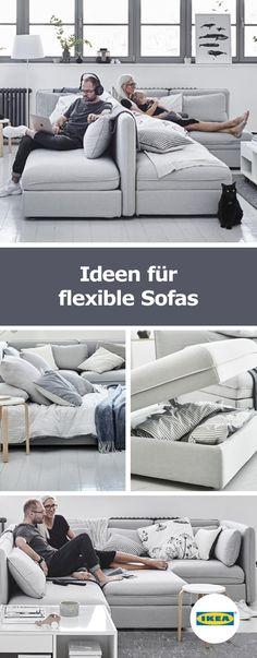 KEA Deutschland | VALLENTUNA ist eine Modulsofaserie, die dir persönliche Bereiche ermöglicht, während die anderen nur auf Armeslänge entfernt sind.