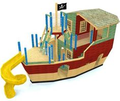 Childrens Playhouse Plans 375276581451748879 - Davy Jones' Locker Pirateship Plan for Kids – Paul's Playhouses Source by xavbesson Shed With Loft, Run In Shed, Shed Plans 12x16, Free Shed Plans, Wood Storage Sheds, Storage Shed Plans, Kids Hanging Chair, Davy Jones' Locker, Shed Windows