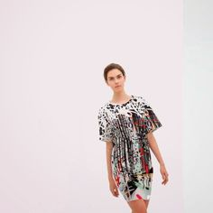 let's shop here : Soft cotton RANDOM PRINT DRESS