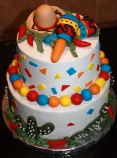 fiesta party cake idea