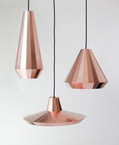Copper Lights by David Derksen Use together over the counter with one of the other copper lighting fixtures over the sink. Interior Lighting, Home Lighting, Modern Lighting, Lighting Design, Kitchen Lighting, Deco Luminaire, Luminaire Design, Copper Lighting, Pendant Lighting