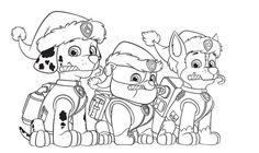 Weihnachten Paw Patrol Malvorlagen Marshall Weihnachten Paw Patrol