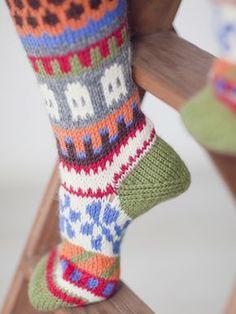 Villit kirjoneulesukat Novita 7 Veljestä   Novita knits