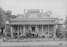 San Francisco Plantation House in St. John the Baptist Parish, Louisiana.