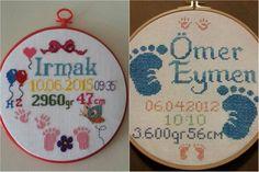 Bebeğinizin doğum gününü ölümsüz bir anı haline getirmek istiyorsanız, etamin doğum panosu modellerine göz atabilir, fikir alabilirsiniz.Doğum panosu modeli Cross Stitch Baby, Kids Bedroom, Alphabet, Decorative Plates, Embroidery, Crochet, Baby Embroidery, Cross Stitch, Cross Stitch House