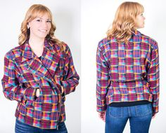 Vintage 1980's Women's Doncaster Plaid by Jacket/Blazer by BeulahLouiseVintage, $39.00. Use Coupon Code BLOGREADER for free shipping. #cybermonday #wool #wintercoat