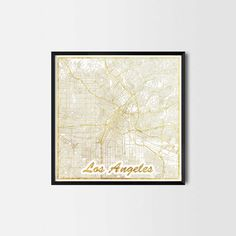 Los Angeles map posters - Art posters and prints of your favorite city. Unique design of a map. Los Angeles Map, Kitchen Art Prints, Vintage Style, Retro Vintage, Gold Map, Map Posters, Poster City, House Art, Office Art