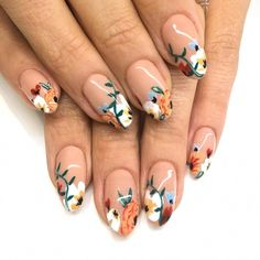 36 Gorgeous Floral Nail Art Designs for Spring – Ten Catalog 'Addams Family' Nails : essie morticia nail polish Manicure on a Budget: 10 Surprising Ideas Nail Art Designs, Flower Nail Designs, Nail Designs Spring, Nails Design, Nails With Flower Design, Salon Design, Floral Designs, Design Art, Design Ideas