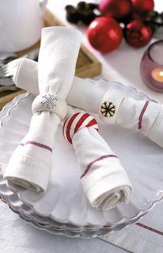 ¡Decora tu mesa navideña con estos hermosos servilleteros! #Christmas