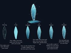Crystal Tutorial by ZorasxRawwk.deviantart.com on @deviantART ✤ || CHARACTER DESIGN REFERENCES | キャラクターデザイン |  • Find more at https://www.facebook.com/CharacterDesignReferences & http://www.pinterest.com/characterdesigh and learn how to draw: concept art, bandes dessinées, dessin animé, çizgi film #animation #banda #desenhada #toons #manga #BD #historieta #strip #settei #fumetti #anime #cartoni #animati #comics #cartoon from the art of Disney, Pixar, Studio Ghibli and more || ✤