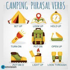 Camping Phrasal Verbs
