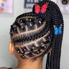 Box Braids Hairstyles, Baby Girl Hairstyles, Natural Hairstyles For Kids, Braids Hairstyles Pictures, Kids Braided Hairstyles, Natural Hair Styles, Hairstyle Ideas, Toddler Hairstyles, School Hairstyles