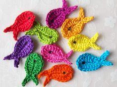 Crochet Fish Appliques