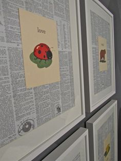 Oh, Baby - DIY Nursery Decor - How to Make Wall Art from Dictionary Pages and Greeting Cards - 12