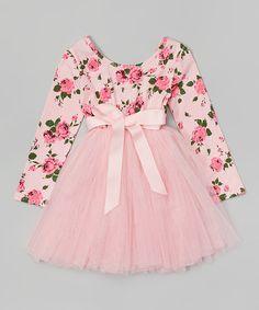 Love this Light Pink Floral Tutu Dress - Toddler & Girls by Designer Kidz on #zulily! #zulilyfinds