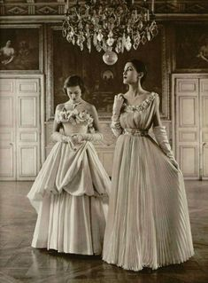 1949 dresses Jeanne Lafaurie and  Marcel Rochas