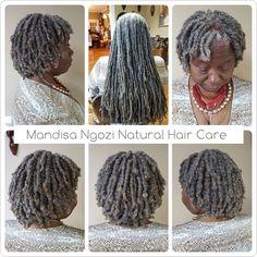 Image may contain: 1 person Kinky Twist Styles, Short Kinky Twists, Grey Hair On Dark Skin, Gray Hair, Brown Skin, Curly Crochet Hair Styles, Curly Hair Styles, Beautiful Dreadlocks, Dreadlock Styles