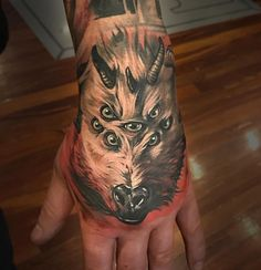 7 Eyed Goat Hand Tattoo