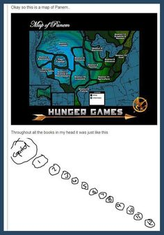 So this is a map of Panem... I would just like to let everyone know I live in the capital so my life is now complete!