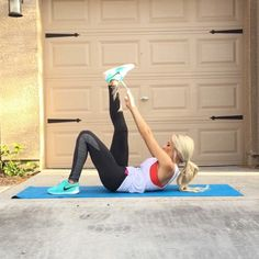 Ab Workout!  double tap & tag your partner  perform 15 reps each exercise for a total of 5 sets!
