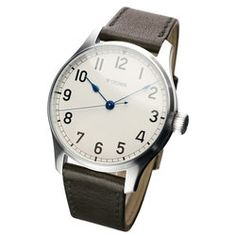 Marine automatic with sterlingsilver dial, matt
