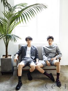 EXO Chanyeol and Sehun - Ceci Magazine Korea, China, and Thailand August Issue '15