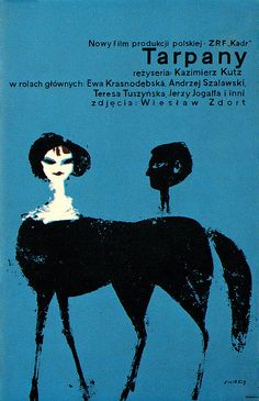 Waldemar Swierzy Illustration    Poster for a Polish film. From Graphis Annual 63/64.