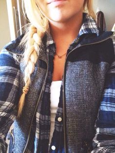 Flannel and vest