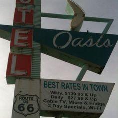 Old Motel on 11th street (Historic Route 66) in Tulsa, Oklahoma